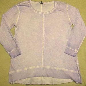 High low lightweight oversized sweatshirt